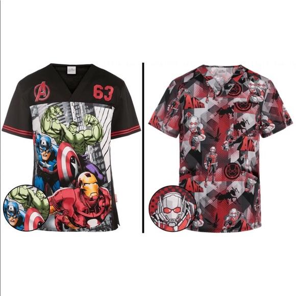 51c30162550 Tooniforms Shirts | Marvel Avengers Hulk Antman Nurse Scrub Top Set ...